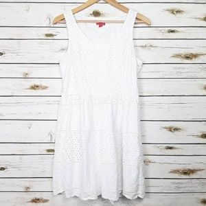 Elle white eyelet dress